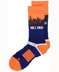 Strideline Denver City Socks Ii Navy Orange