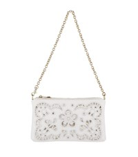 Dolce And Gabbana Embroidered Florals Micro Bag Female White