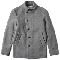 Edifice Shawl Collar Coat Grey