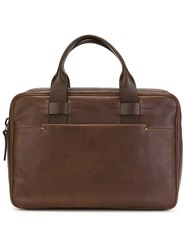 Troubadour Slim Briefcase Brown