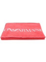 Emporio Armani Ea7 Logo Towel Pink And Purple