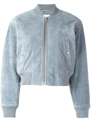 See By Chloe Cropped Bomber Jacket Blue