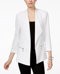 Inc International Concepts Zip Pocket Open Jacket Only At Macy's Bright White
