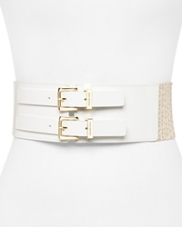 Michael Michael Kors Belt 3 Logo Stretch Panel White