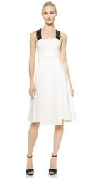 Josh Goot Monochrome Fit And Flare Dress White