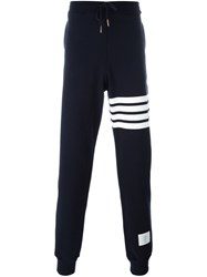 Thom Browne Striped Detail Track Pants Blue