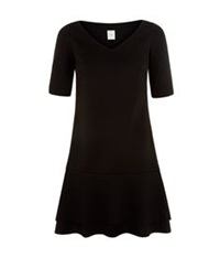 Pinko Monocromo Drop Waist Dress Black