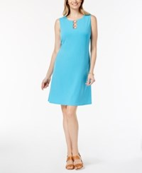 Jm Collection Petite Three Ring Sheath Dress Created For Macy's Reef Aqua