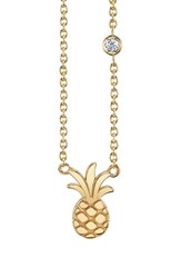 Shy By Se 'S Pineapple Diamond Pendant Necklace Gold