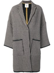 Semicouture Houndstooth Coat Brown