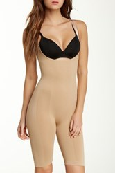 Heavenly Secrets Seamless Long Leg Control Briefer Beige