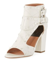 Laurence Dacade Rush Star Studded Leather Sandal White