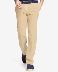 Polo Ralph Lauren Big And Tall Men's Classic Fit Linen Pants Classic Khaki