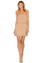 American Vintage Meadow V Neck Dress Tan