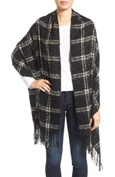 Sole Society Women's Oversize Speckled Plaid Blanket Scarf