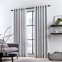 Dkny Madison Lined Curtains Silver White