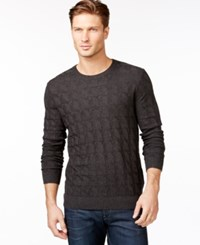 Boss Hugo Boss Criss Cross Cabled Sweater Medium Gray
