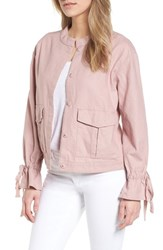 Caslon Tie Sleeve Linen And Cotton Jacket Pink Adobe
