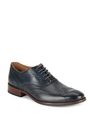 Cole Haan Williams Leather Wingtip Dress Shoes Dark Night