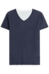 Majestic Layered Cotton T Shirt With V Neckline Gr. M