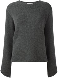 Chloe Oversized Sleeve Jumper Grey