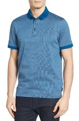Ted Baker Men's London Tig Jacquard Polo Teal