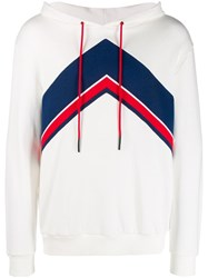 Perfect Moment Chevron Hooded Sweater White