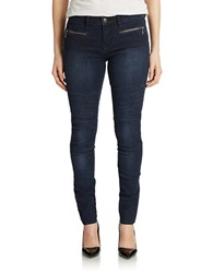 Buffalo David Bitton Zipper Accented Skinny Jeans Enzyme Wash