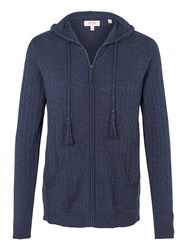 Fat Face Beth Textured Hoodie Navy