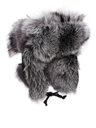 Crown Cap Men's Fur And Leather Aviator Hat Black