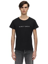 Nasaseasons Almost Famous Cotton T Shirt Black