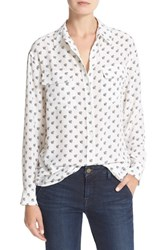 Equipment Women's Signature Bee Print Silk Shirt