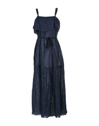 Leon And Harper Long Dresses Dark Blue