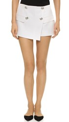 Balmain Wrap Mini Shorts Off White