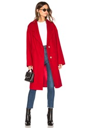 Kendall Kylie Wool Overcoat Red