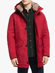 Bugatti Rainseries Hooded Parka Jacket Red