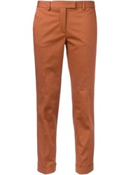 Alberto Biani Cropped Chino Trousers Yellow Orange