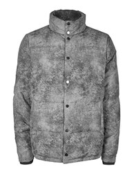 Topman Ltd Grey Marble Effect Puffer Jacket