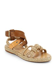 Etoile Isabel Marant Leather And Jute Sandals Natural