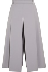 Vilshenko Lucy Wool And Silk Blend Culottes Gray