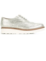 Grenson 'Emily' Lace Up Shoes Metallic
