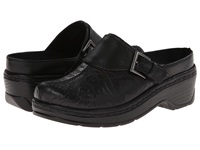 Klogs Usa Austin Black Flower Tool Women's Clog Shoes