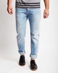 Edwin Ed 80 Light Blue Denim Slim Tapered Jean Navy
