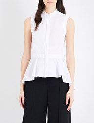 Alexander Mcqueen Sleeveless Cotton Poplin Shirt White