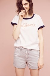 Anthropologie California Ringer Tee White
