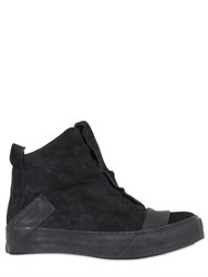 Boris Bidjan Saberi Reversed Leather High Top Sneakers