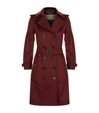 Burberry Puff Sleeve Cashmere Trench Coat Female Burgundy