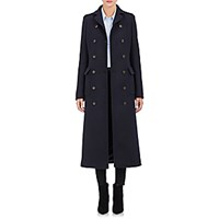 Barneys New York Women's Military Long Coat Navy