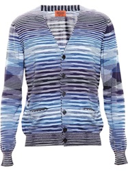 Missoni Striped Cardigan Blue