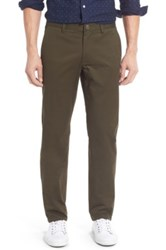 Bonobos Slim Fit Washed Stretch Cotton Chinos Green